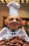 Marionnette chocolatier de Maitre à Bruxelles, Belgique photos libres de droits