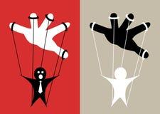 Marionnette commandée à la main illustration libre de droits