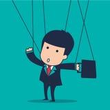 Marionnette d'homme d'affaires image libre de droits