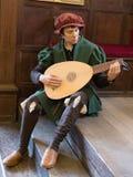 Marionnette d'homme jouant une lyre Image libre de droits