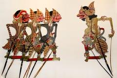 Marionnette d'ombre ou kulit de wayang Image stock