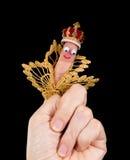 Marionnette de caricature de roi photographie stock