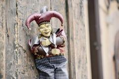 Marionnette de carnaval de joker Photographie stock libre de droits