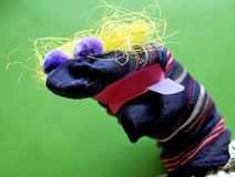 Marionnette de chaussette Photo libre de droits