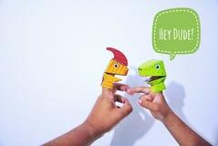 Marionnette de doigt Photos libres de droits