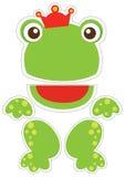 Marionnette de papier de grenouille illustration libre de droits