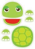 Marionnette de papier de tortue illustration libre de droits