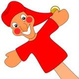 Marionnette de perforateur et de Judy. Images libres de droits