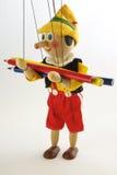 Marionnette en bois et un crayon Photos libres de droits