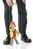 Marionnette et maître images stock