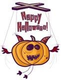 Marionnette Halloween de potiron Images stock