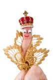 Marionnette royale de doigt images libres de droits