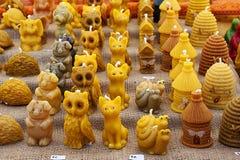 marionnettes de bougie sur un marché photo stock