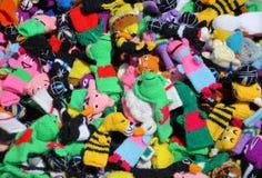 Marionnettes de chaussette Photographie stock