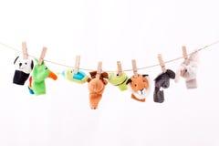 Marionnettes de doigt photo stock