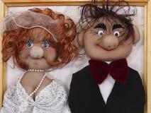 Marionnettes de jeunes mariés Photo libre de droits