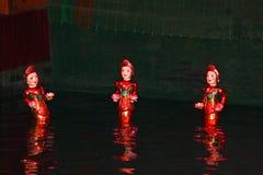 Marionnettes de l'eau, Hanoï, Vietnam Photo stock