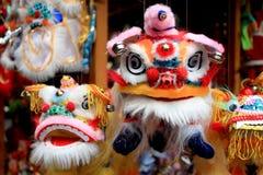 Marionnettes de lion pour le festival de lanterne Image libre de droits