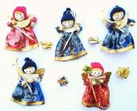 Marionnettes de Noël heureux Images libres de droits