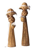 Marionnettes mignonnes de pailles Photo stock