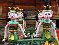 Marionnettes vietnamiennes de l'eau Image stock