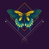 Mariposa abstracta Imágenes de archivo libres de regalías