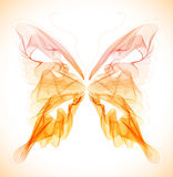 Mariposa abstracta colorida lisa Imagenes de archivo