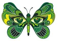 Mariposa abstracta colorida para la tarjeta de felicitación, diseño del vector Imagenes de archivo