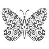 Mariposa abstracta de Mehndi - ejemplo del vector Imágenes de archivo libres de regalías
