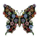 Mariposa adornada decorativa Imagen de archivo libre de regalías