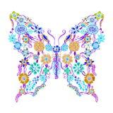 Mariposa adornada decorativa Imágenes de archivo libres de regalías