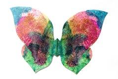 Mariposa aislada en blanco Fotografía de archivo
