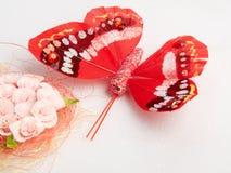 Mariposa artificial Imágenes de archivo libres de regalías