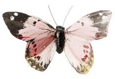 Mariposa artificial aislada en el fondo blanco imagen de archivo libre de regalías