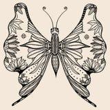 Mariposa asombrosa de la mosca del país de las maravillas libre illustration