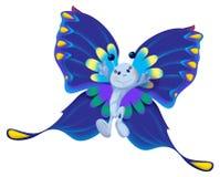 Mariposa azul stock de ilustración