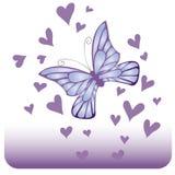 Mariposa azul trémula Imagen de archivo
