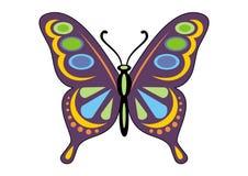 Mariposa colorida stock de ilustración