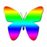 Mariposa colorida Foto de archivo libre de regalías