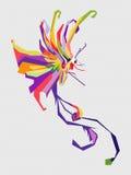 Mariposa colorida libre illustration