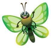 Mariposa con las alas verdes stock de ilustración