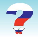 Mariposa con Rusia y el problema ruso Imagen de archivo