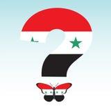 Mariposa con Siria y el problema sirio Foto de archivo