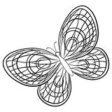 Mariposa, contornos Imagenes de archivo