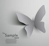 Mariposa cortada papel ilustración del vector