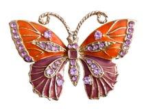 Mariposa de la joyería Imágenes de archivo libres de regalías
