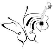 Mariposa de la música stock de ilustración