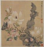 Mariposa de la orquídea del color de agua imagenes de archivo