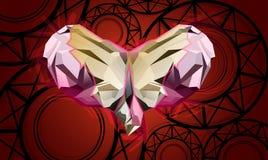 Mariposa de los cristales del corazón ilustración del vector
