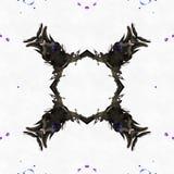 Mariposa de los dibujos del caleidoscopio del batik Imagenes de archivo